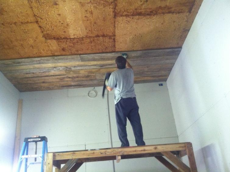 how to add a wood ceiling