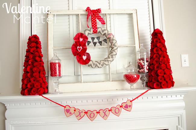 valentine's-day-mantel