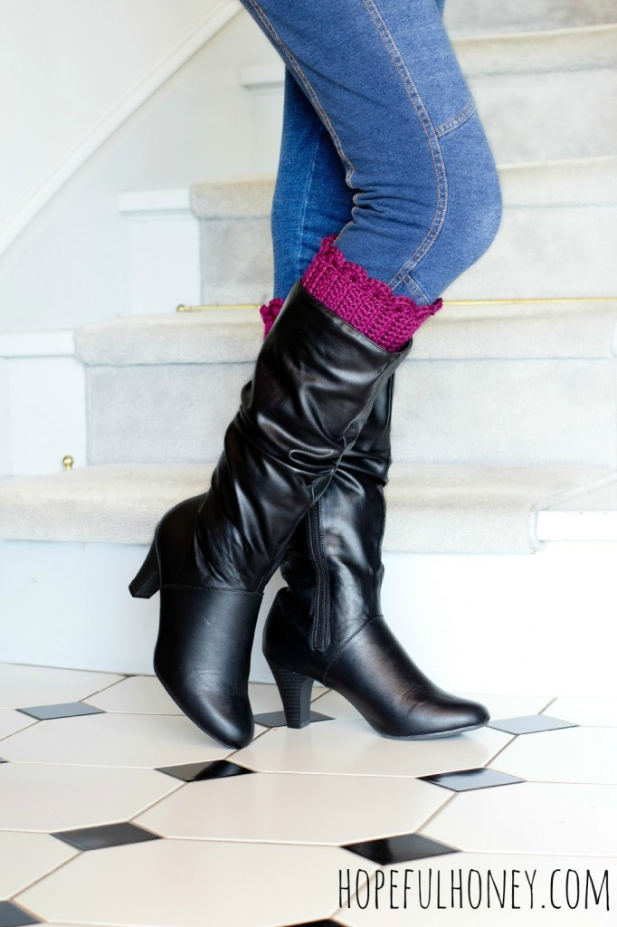 DIY boot cuffs