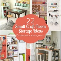22 Organizing and Storage Ideas for small craft rooms and spaces!