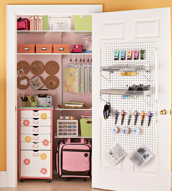 Craft Closet Organization Ideas 550 x 611