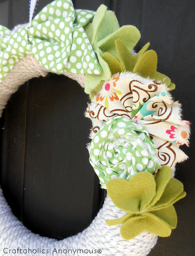 St. Patrick's Day wreath on Craftaholics Anonymous