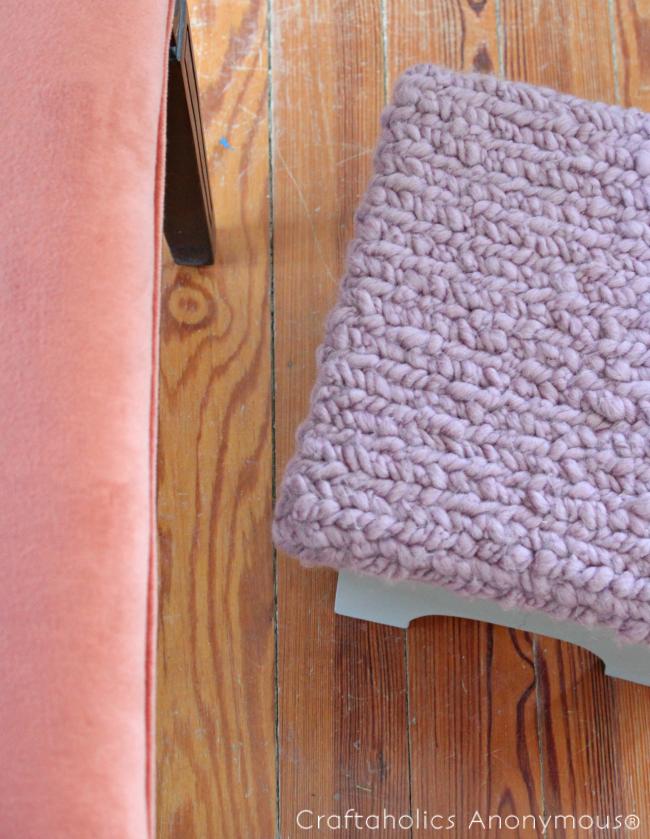diy faux knitting tutorial