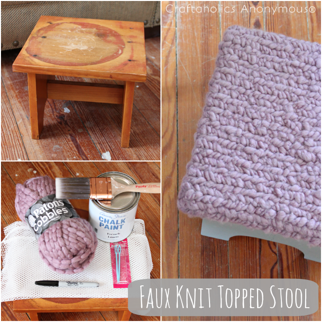DIY Faux Knit Topped Tutorial