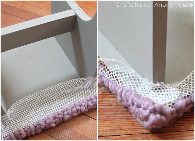 faux knitting