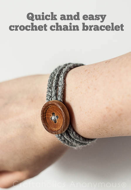 Quick and Easy Crochet Chain Bracelet