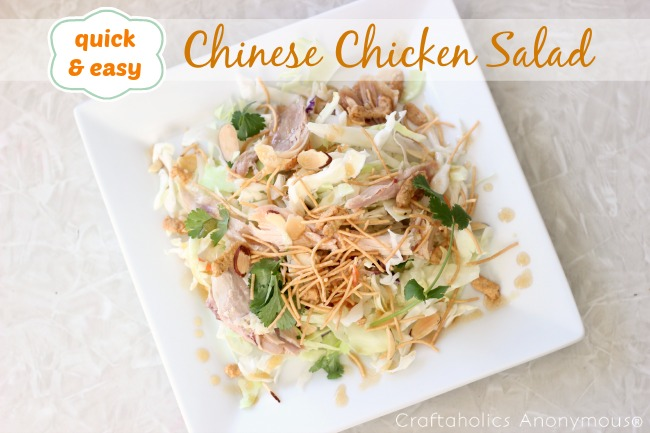 Quick and Easy Chinese Chicken Salad - the perfect lunch for moms on the go! #recipe #lunch