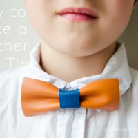 How to Make Leather Bow Ties Tutorial