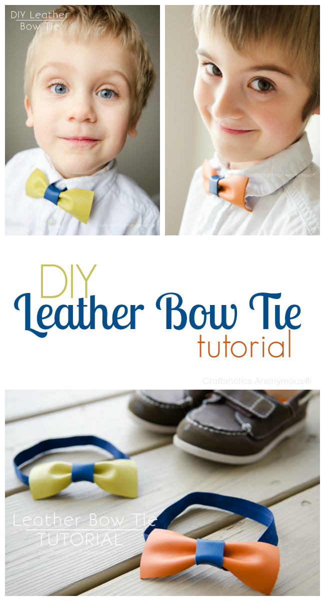DIY leather bow ties