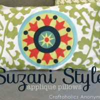 Suzani Style Applique Pillows Tutorial