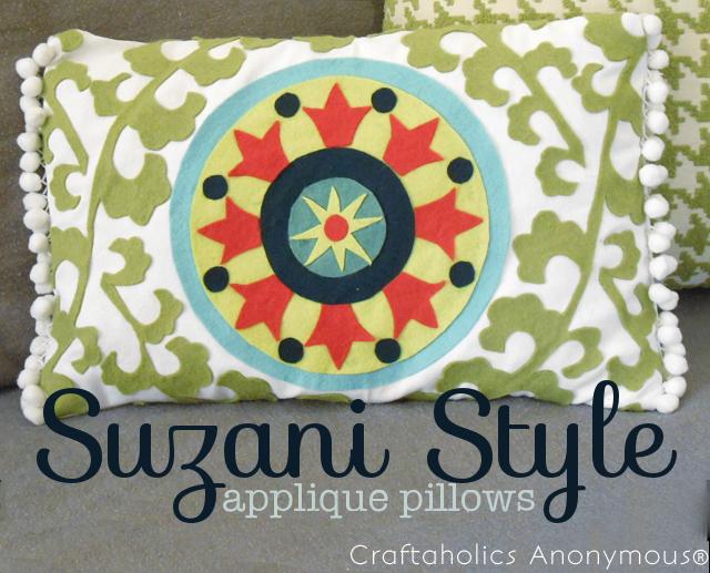 suzani style applique pillows