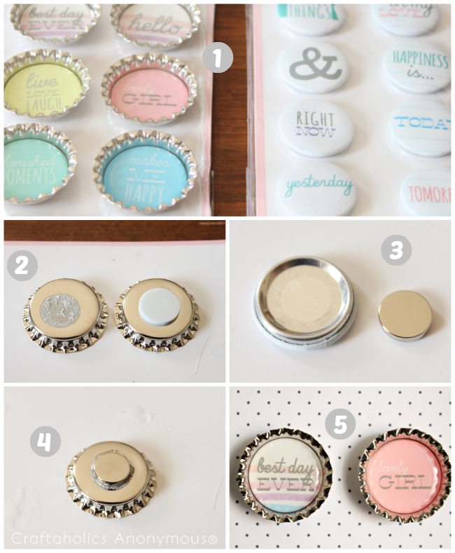 how to make cute magnets. Great resource for the super strong, tiny magnets