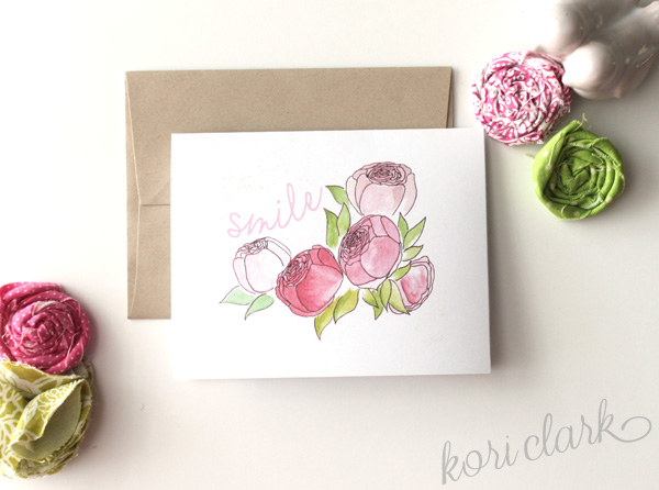 Free spring note card printable