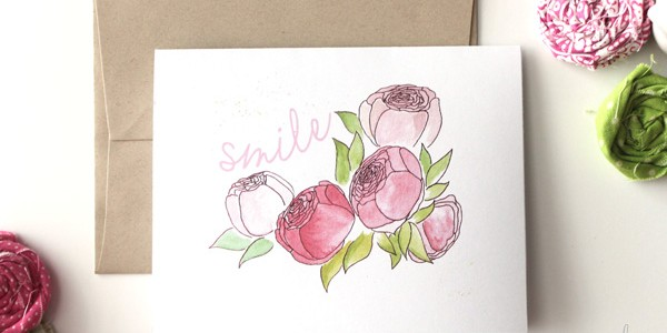 spring smile card