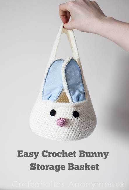 Crochet Bunny Basket - perfect for Easter!