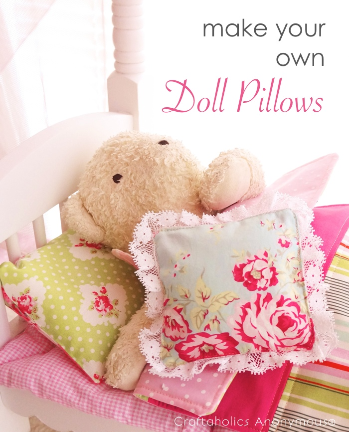 How to sew doll pillows tutorial
