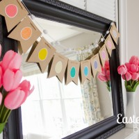 Easy Rainbow Easter Egg Banner