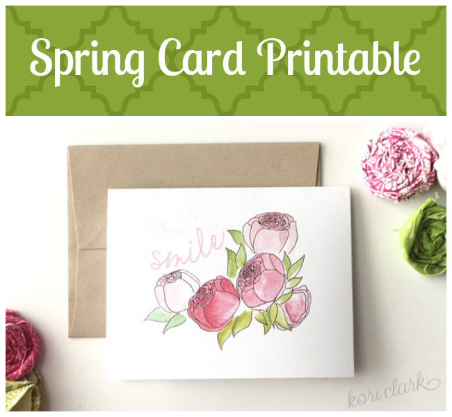 photo about Printable Spring Pictures titled Craftaholics Anonymous® Totally free Spring Printable - Smile Its