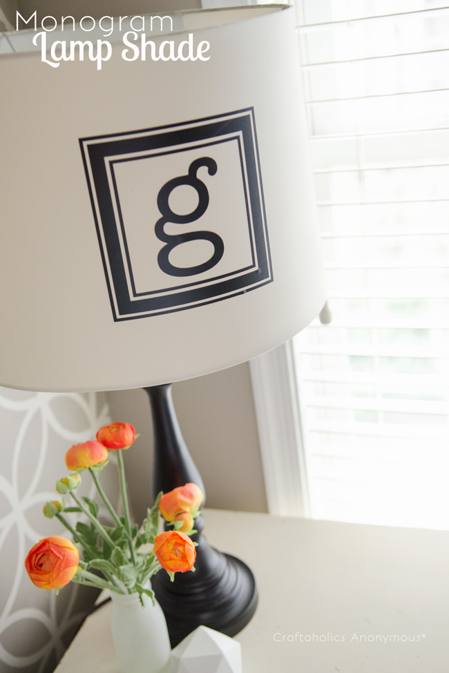 monogram lamp shade. This looks awesome! Easy to do too.