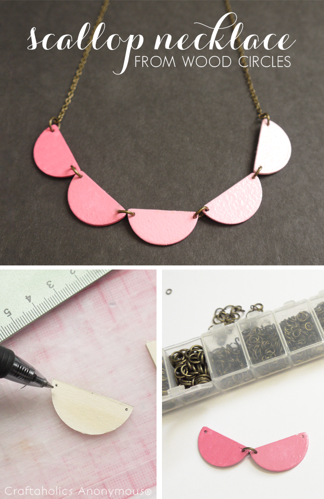 DIY Scallop necklace tutorial. Love the ombre look!