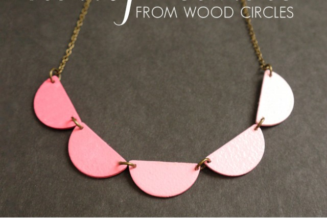 DIY scallop necklace