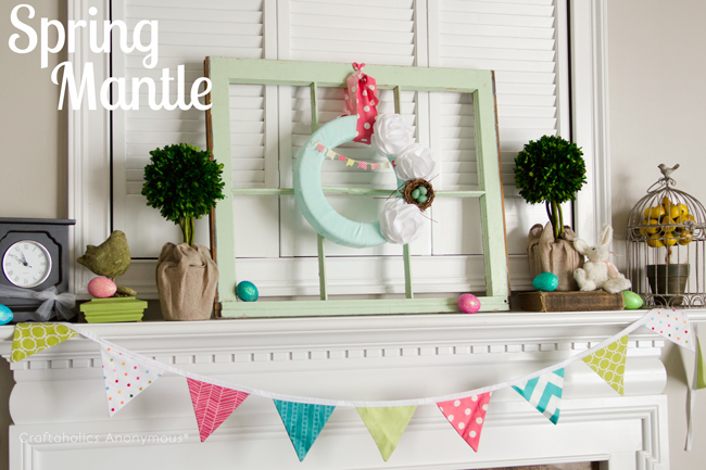 Pretty Spring Mantle! #spring #mantle