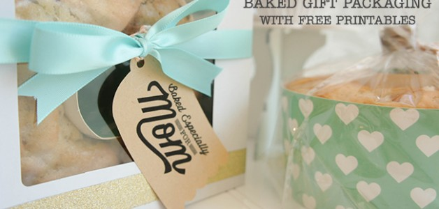 Mother's Day Baked Gift Packaging with FREE printable on www.craftaholicsanonymous.com #mothersdaygift #freeprintable #silhouettecameo