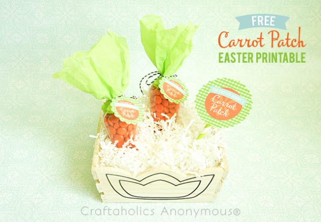 FREE Carrot Patch Easter Printables on Craftaholics Anonymous #freeprintables #Easterprintables #freeEasterprintables