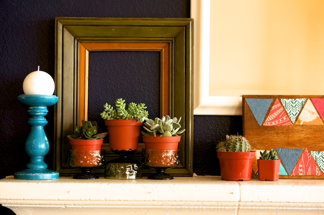 Spring decor. love the succulents!