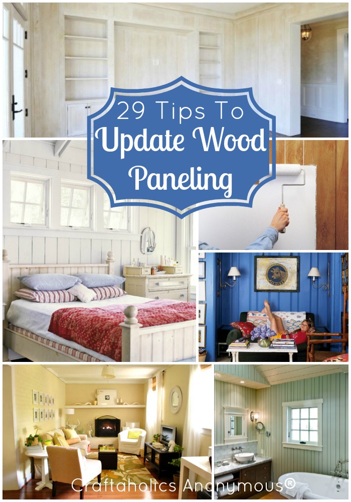 New house on pinterest hanging closet organizer old Ways to update wood paneling