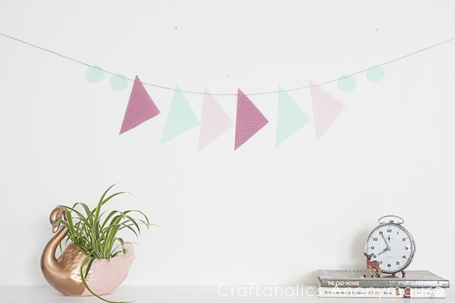 easy banner - love the geometric element for a change