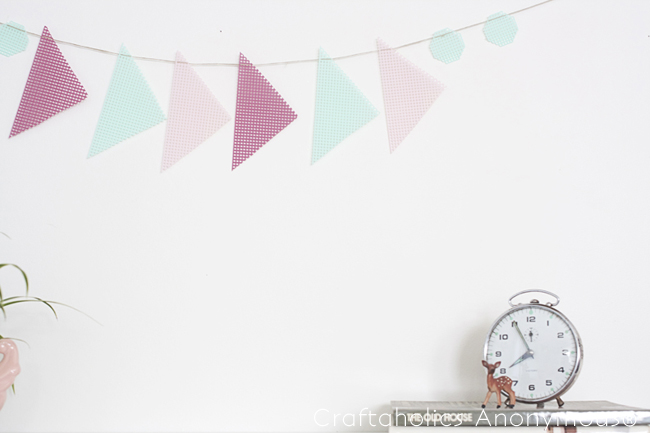 pastel geometric banner. love this non-traditional spring bunting