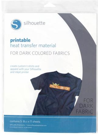 printable heat transfer for dark fabrics