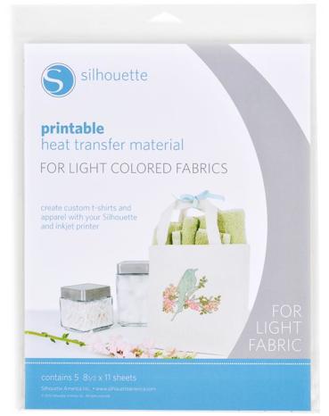 Printable Heat Transfer material for light fabrics