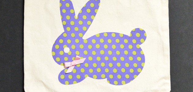 Bunny Applique Bag Tutorial - just in time for Easter! How to make an applique bag