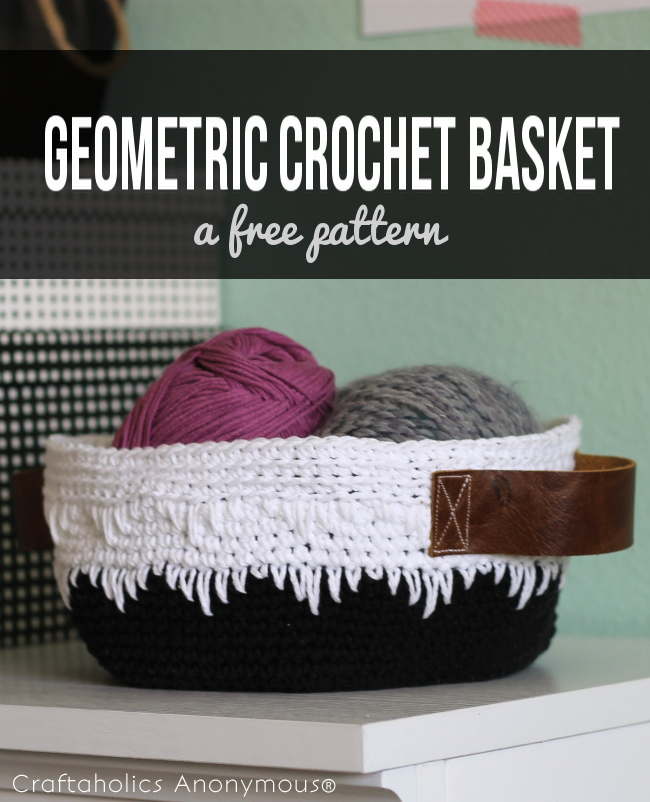 Free Geometric Crochet Basket Tutorial!