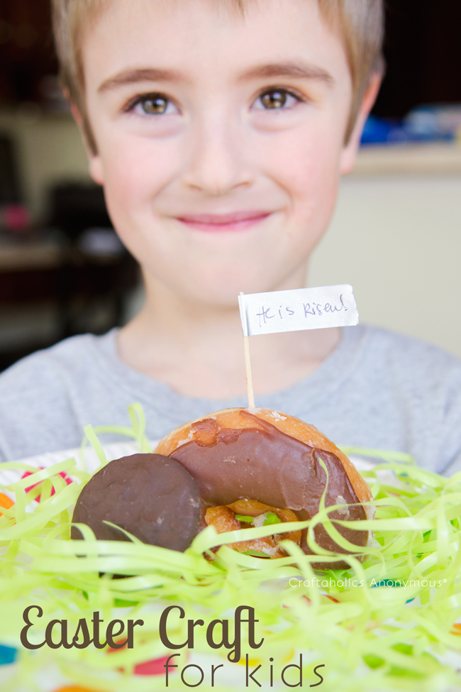 Religious Easter-craft-for-kids. Super easy and cute! My kids loved this. #easter #craft