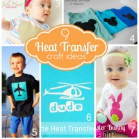 9 Heat Transfer Ideas + Silhouette Discount + Giveaway