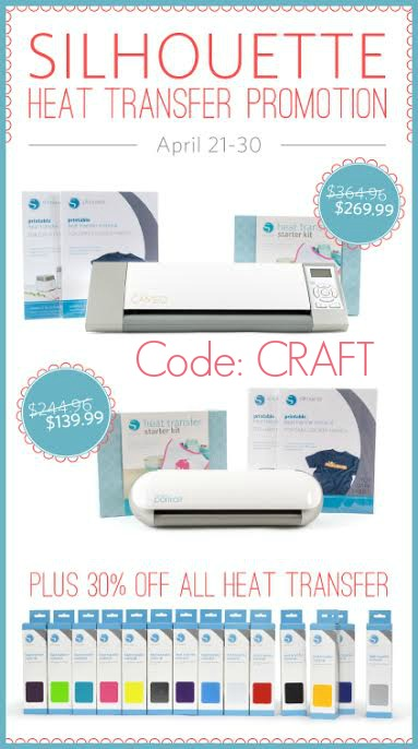 Silhouette Deals- Exclusive bundles + save 30% on Heat Transfer with code: CRAFT