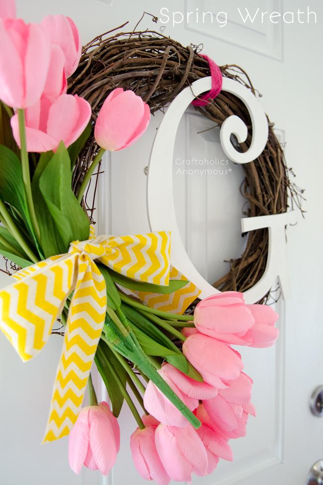 Love this pretty Spring Wreath!