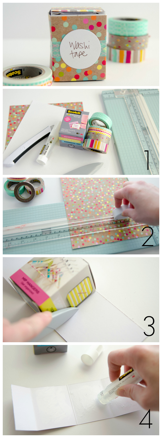 washi tape box tutorial collage1