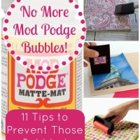 How To Prevent Mod Podge Bubbles