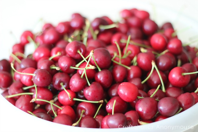 fresh cherries. yum!