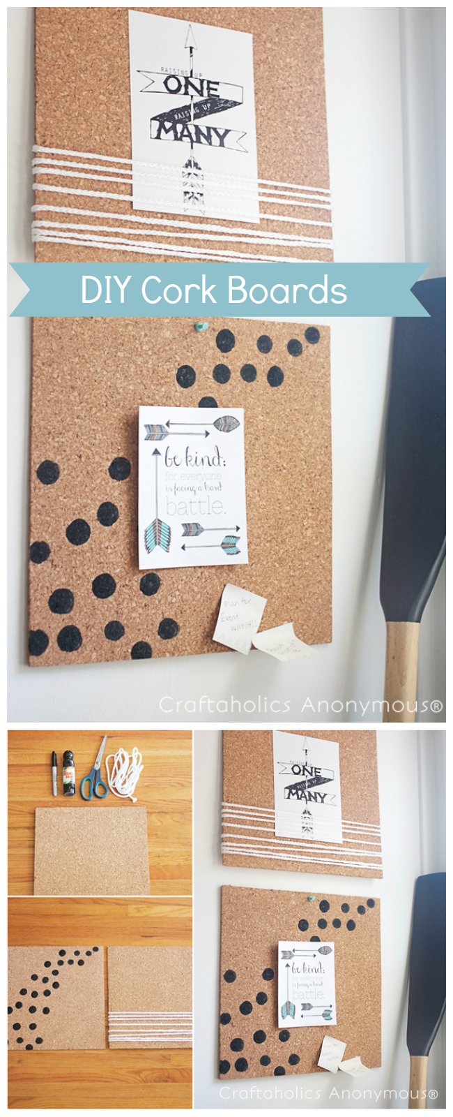 DIY cork boards