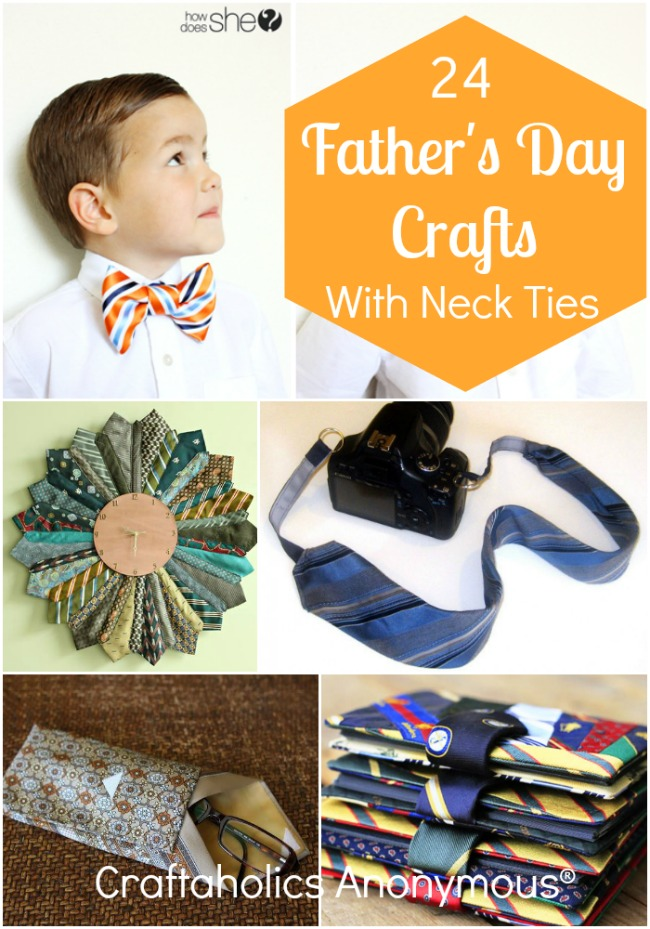 Neck tie craft ideas. Perfect for Father's Day!