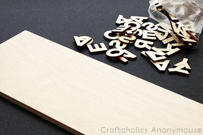 typography craft idea