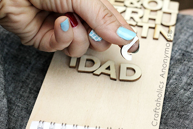 father's day gift idea - love the typography look!