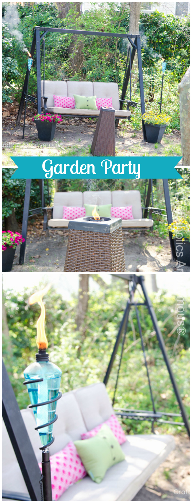Backyard Garden Party :  pretty backdrops and the perfect setting for an outdoor garden party
