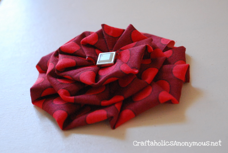 Pleated fabric flower tutorial