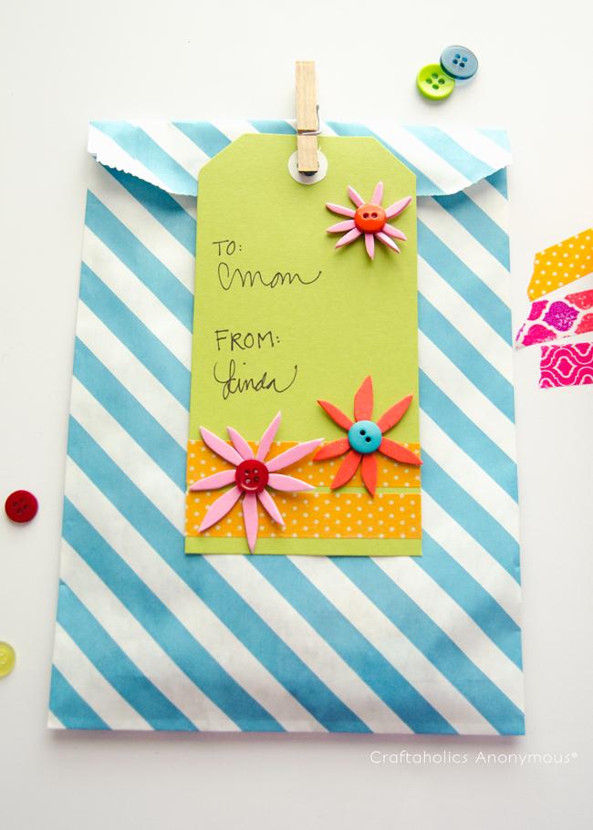 Super cute Handmade Gift Tag idea! #washi_tape #MakeAmazing